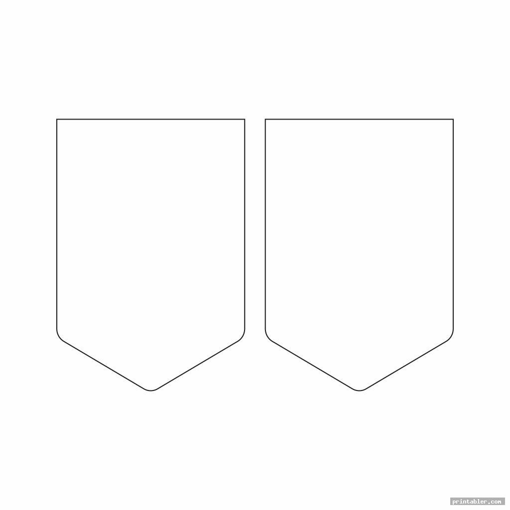 basic blank pennant template printable