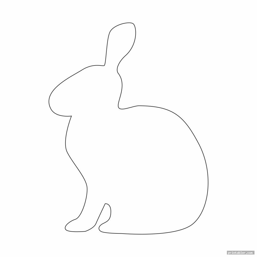 Bunny Outline Template Printable