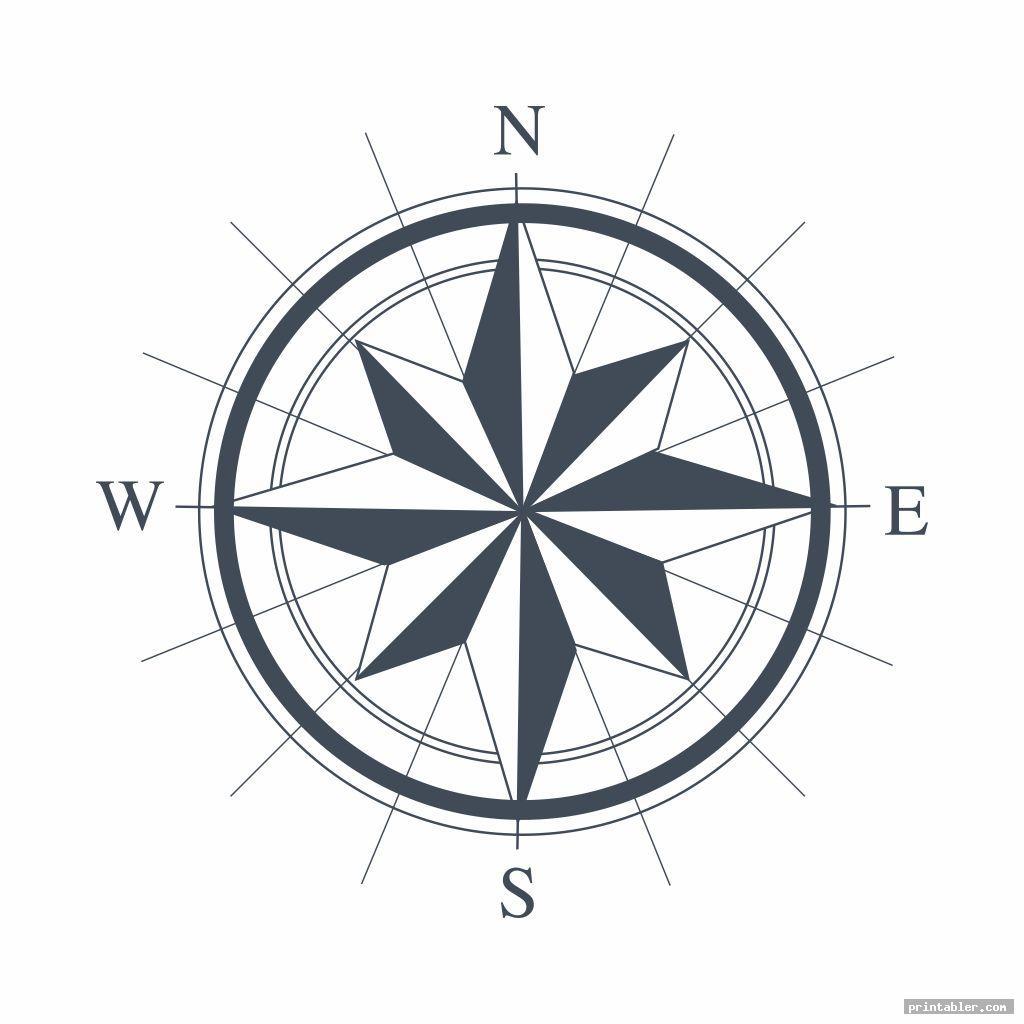 basic compass template printable