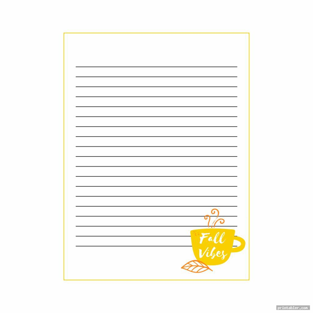 basic fall stationery template printable