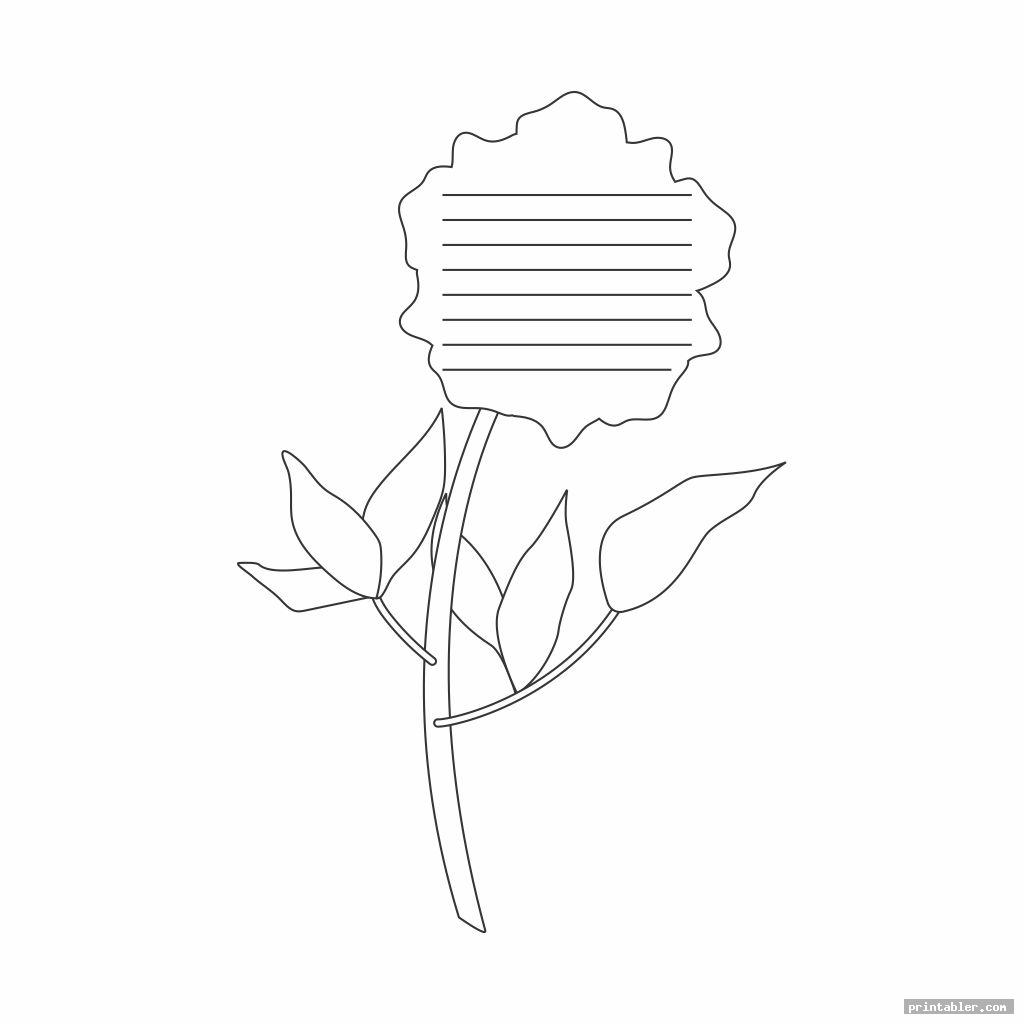 basic flower writing template printable