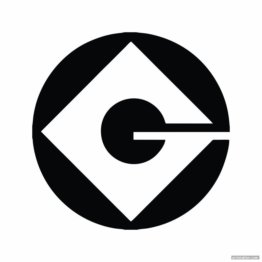 Minions Logo Stencil Printable