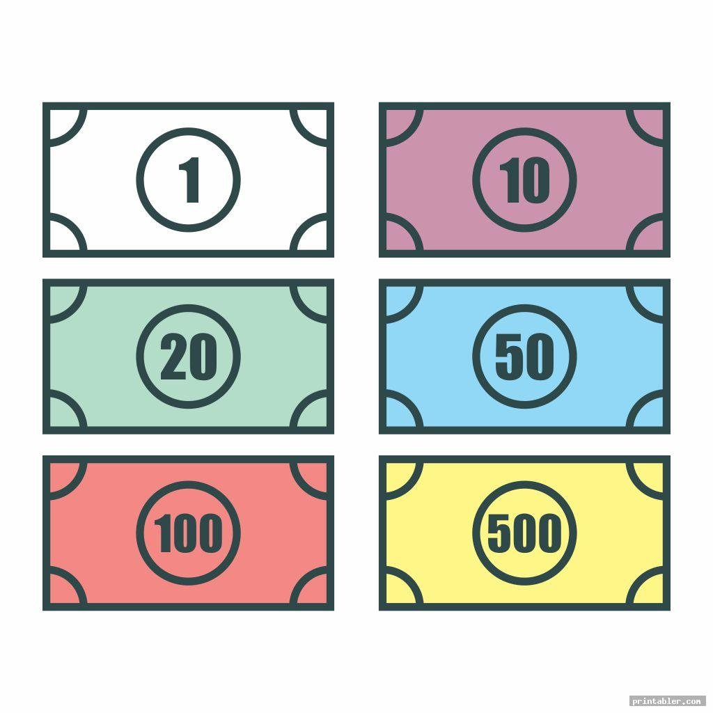 basic monopoly money templates printable