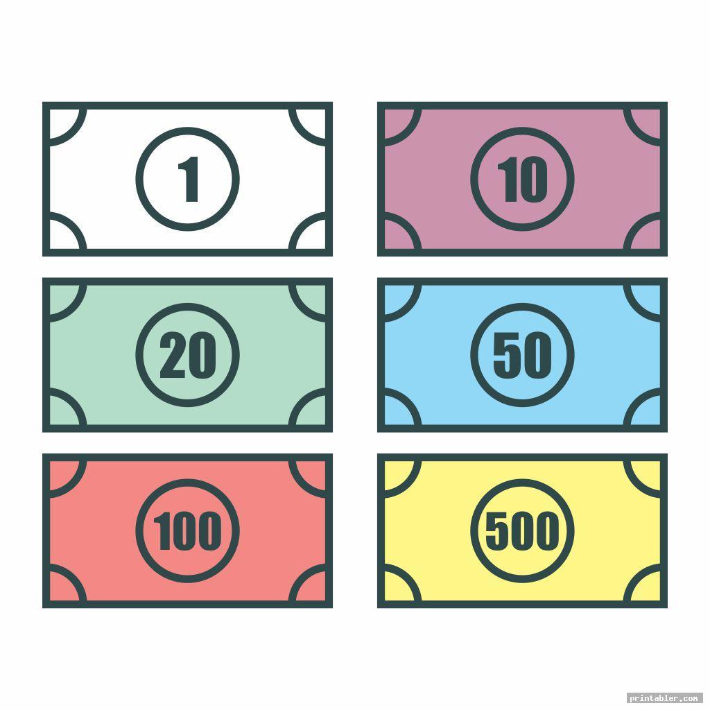 Monopoly Money Templates Printable