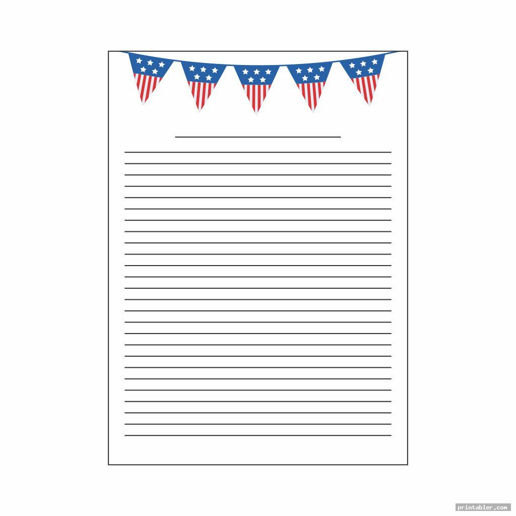 basic patriotic stationary printable