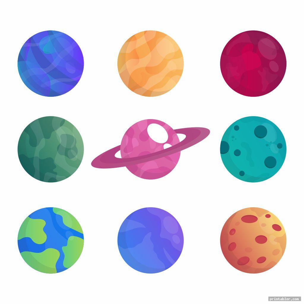 basic planets cutouts printable