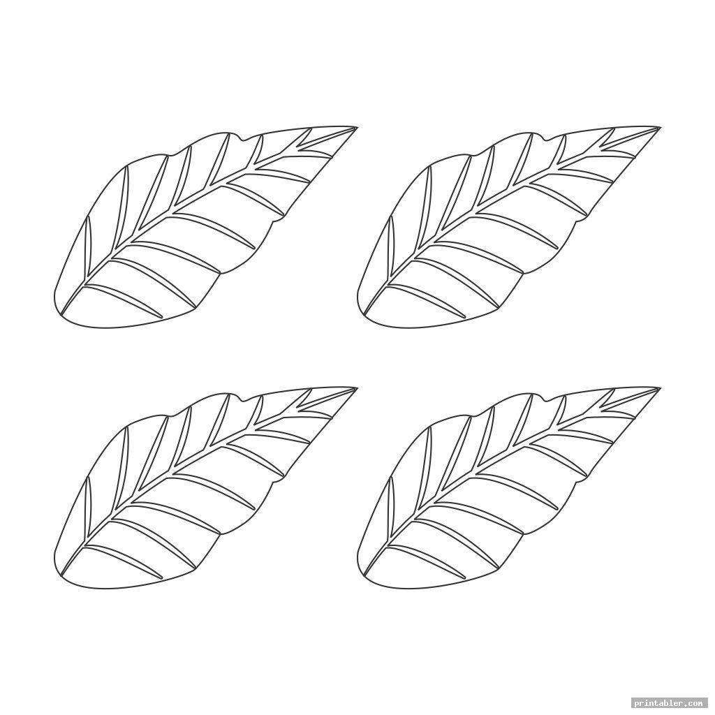 basic poinsettia leaf template printable