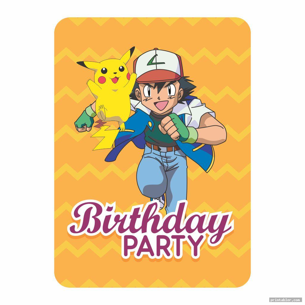 Pokemon Birthday Cards Printable