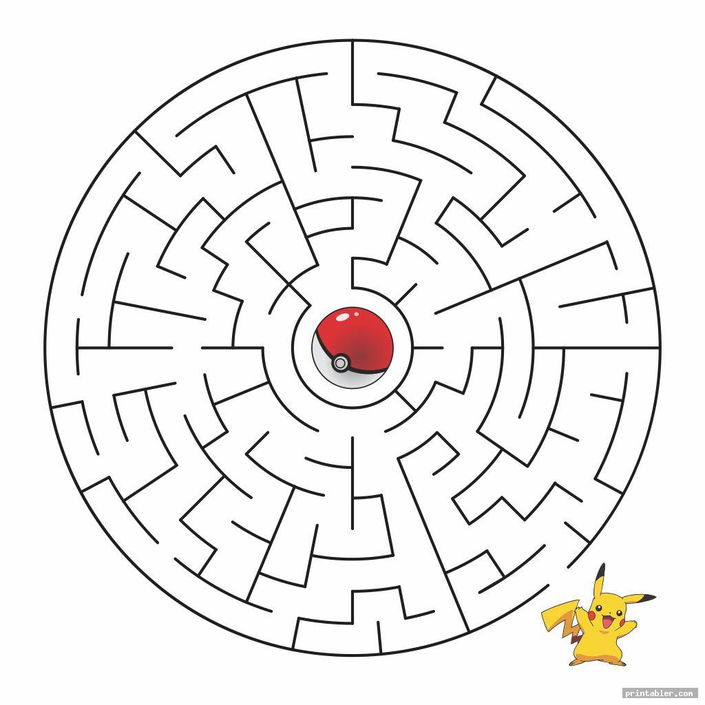 basic pokemon maze printable