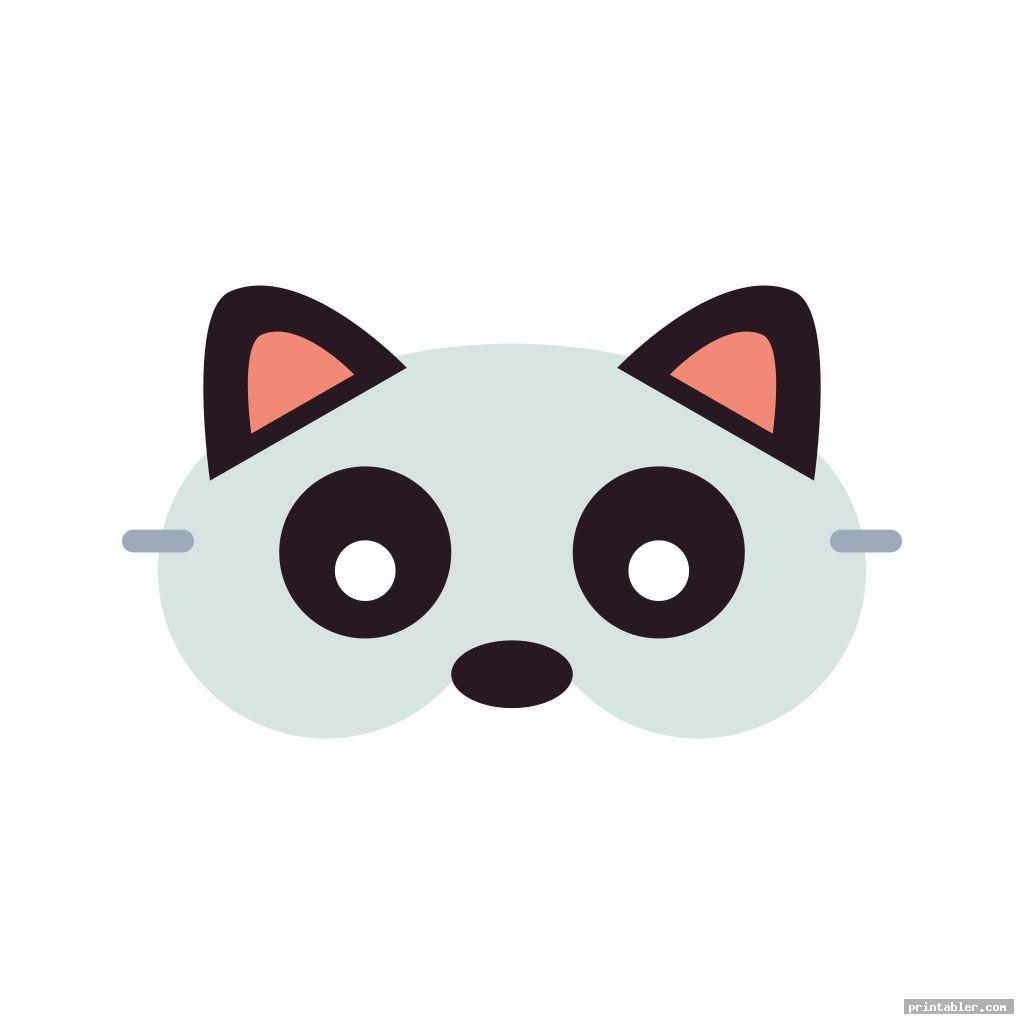 basic raccoon mask printable