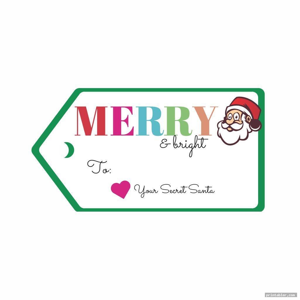 basic secret santa tags printable