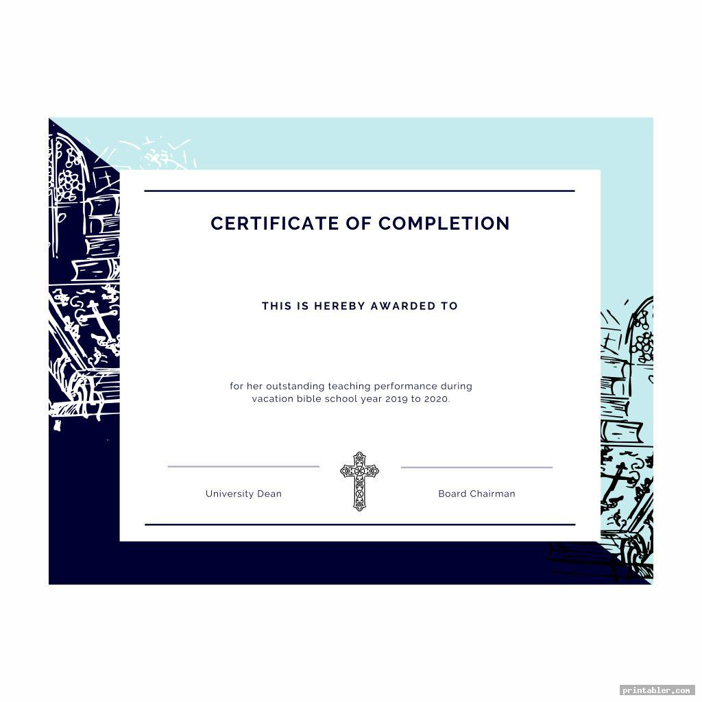 VBS Certificate Templates Printable