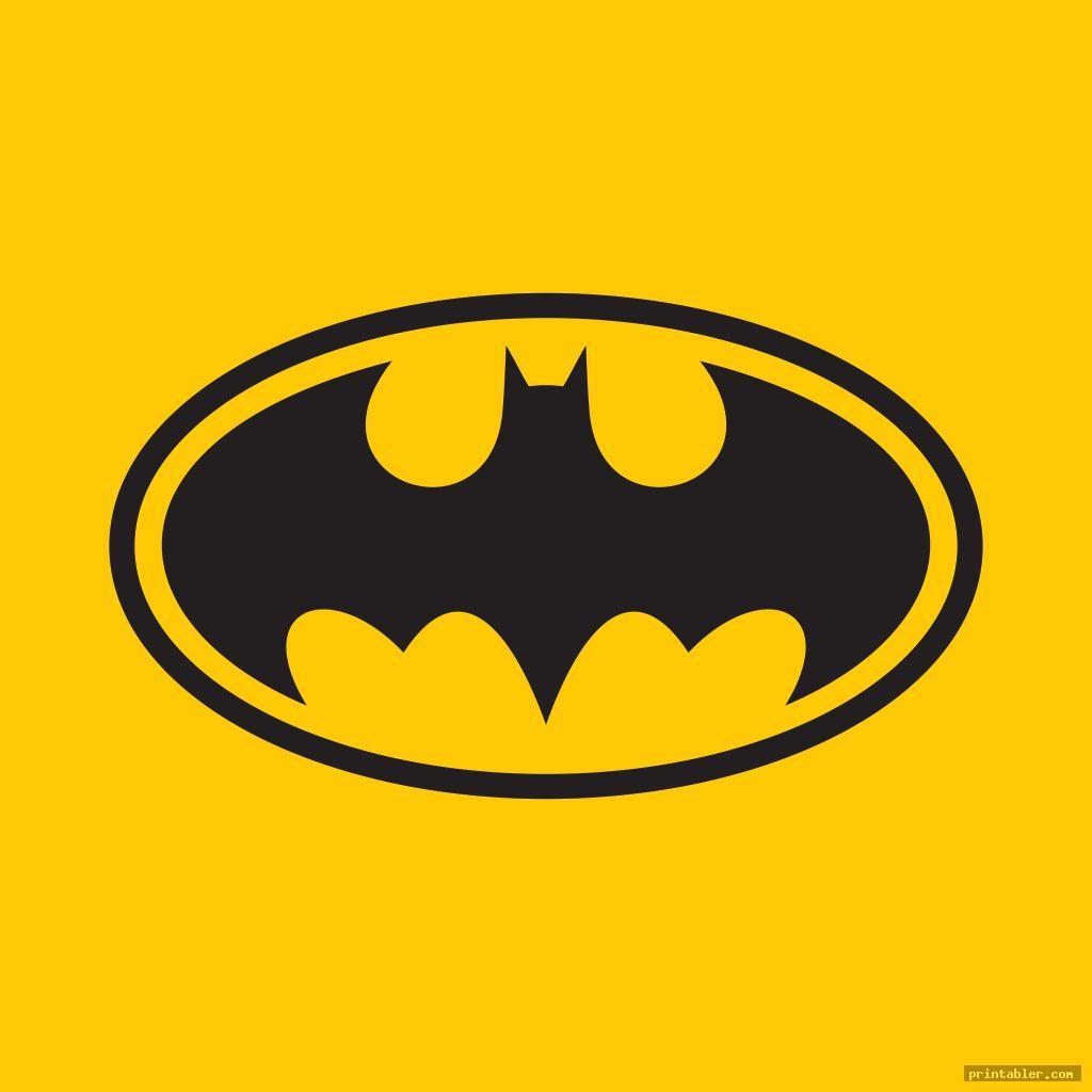 batman superhero logos printable