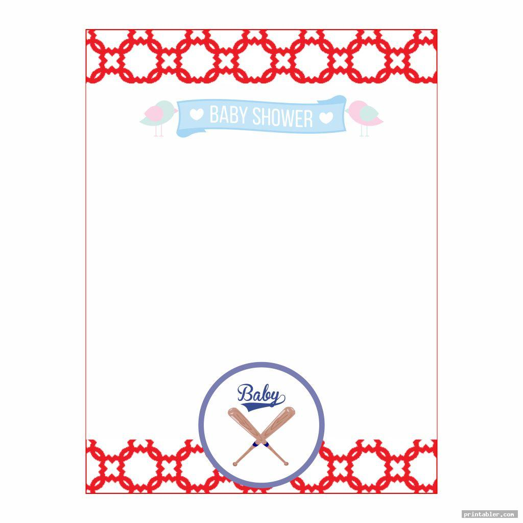 blank baseball baby shower s printable