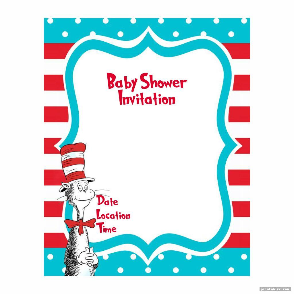 blank dr seuss baby shower invitation template printable