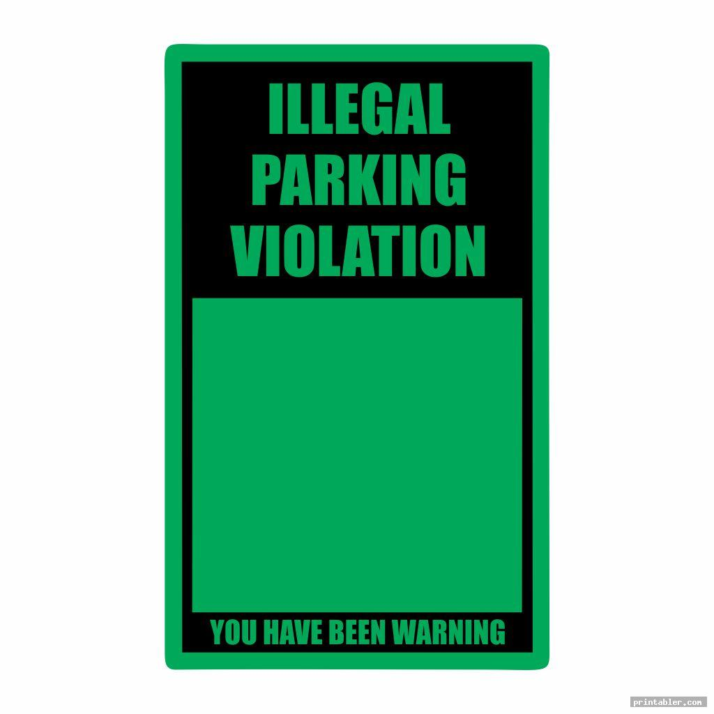 fake parking ticket template word printable