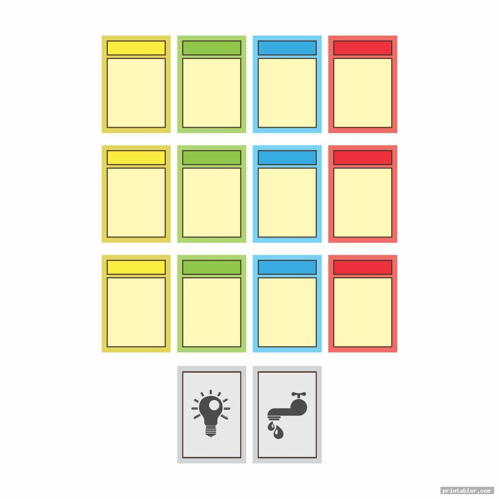 Monopoly Deed Cards Printable