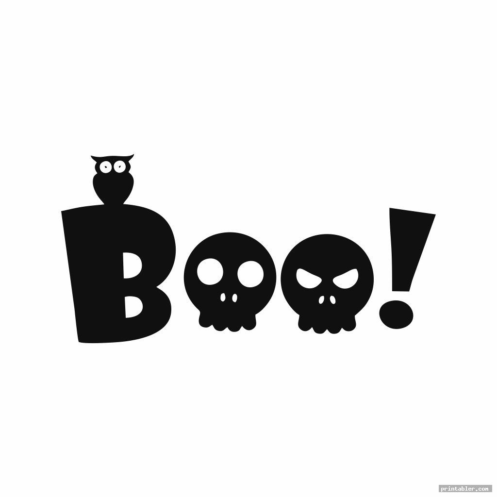 boo letters printable image free