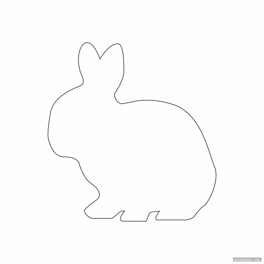 bunny outline template printable image free