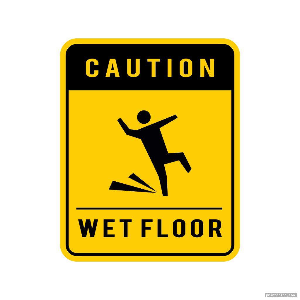 caution wet floor sign printable image free