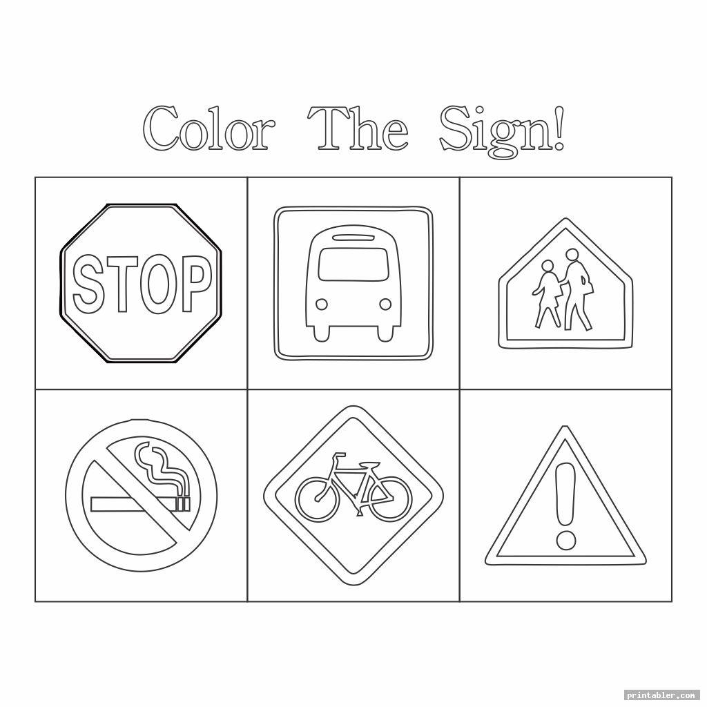 color the survival signs worksheets printable