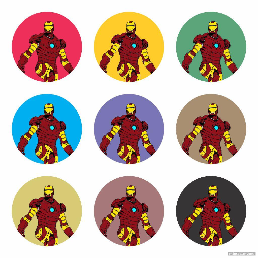 colorful avengers cupcake toppers printable