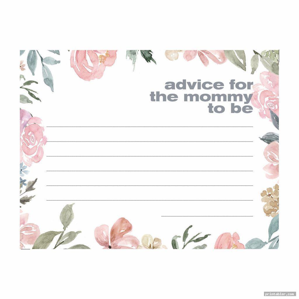 Baby Advice Cards Printable