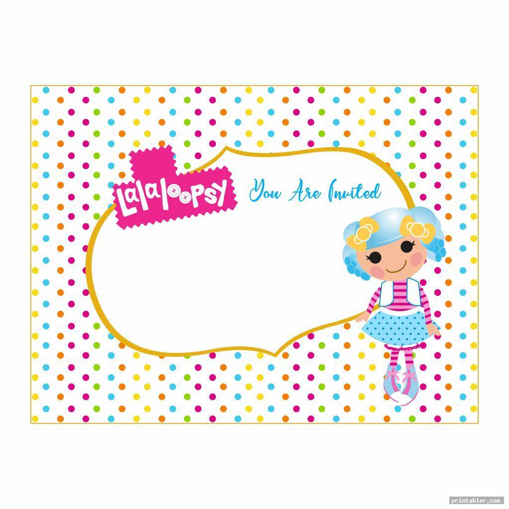 colorful lalaloopsy birthday invitations printable