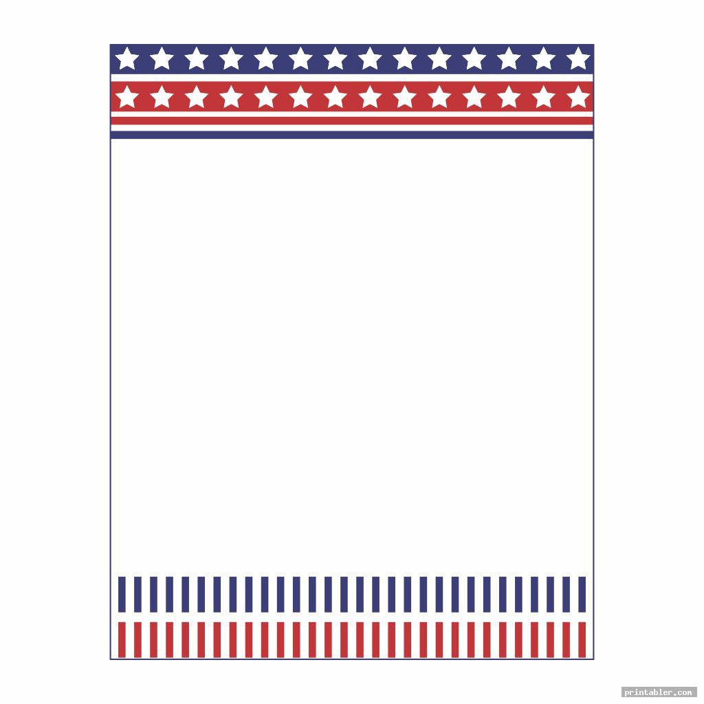 colorful patriotic stationary printable