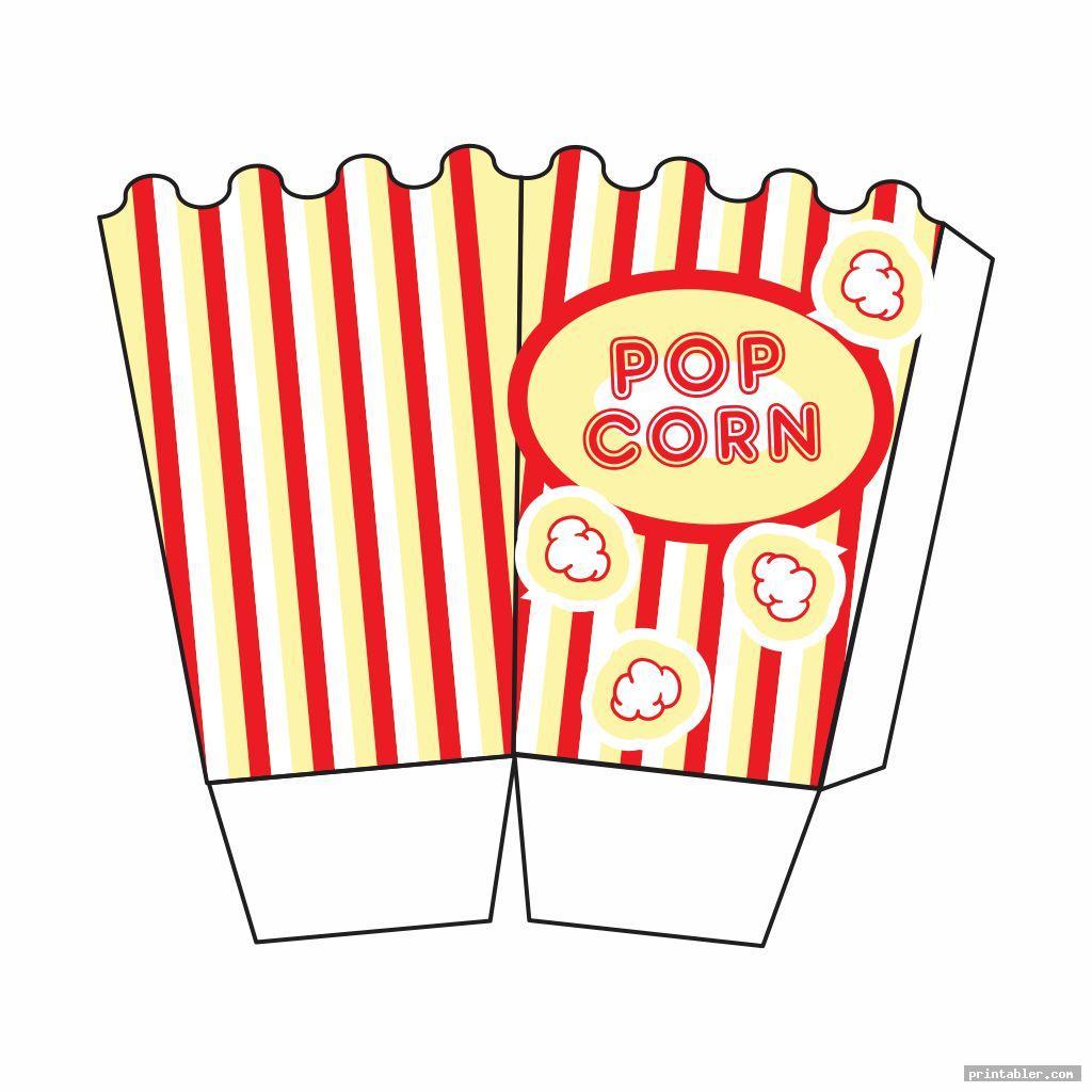 colorful popcorn template printable