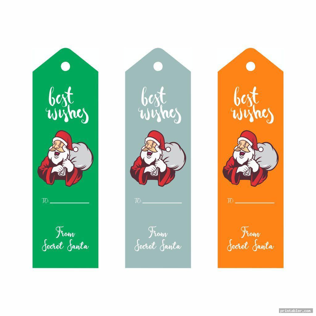 colorful secret santa tags printable