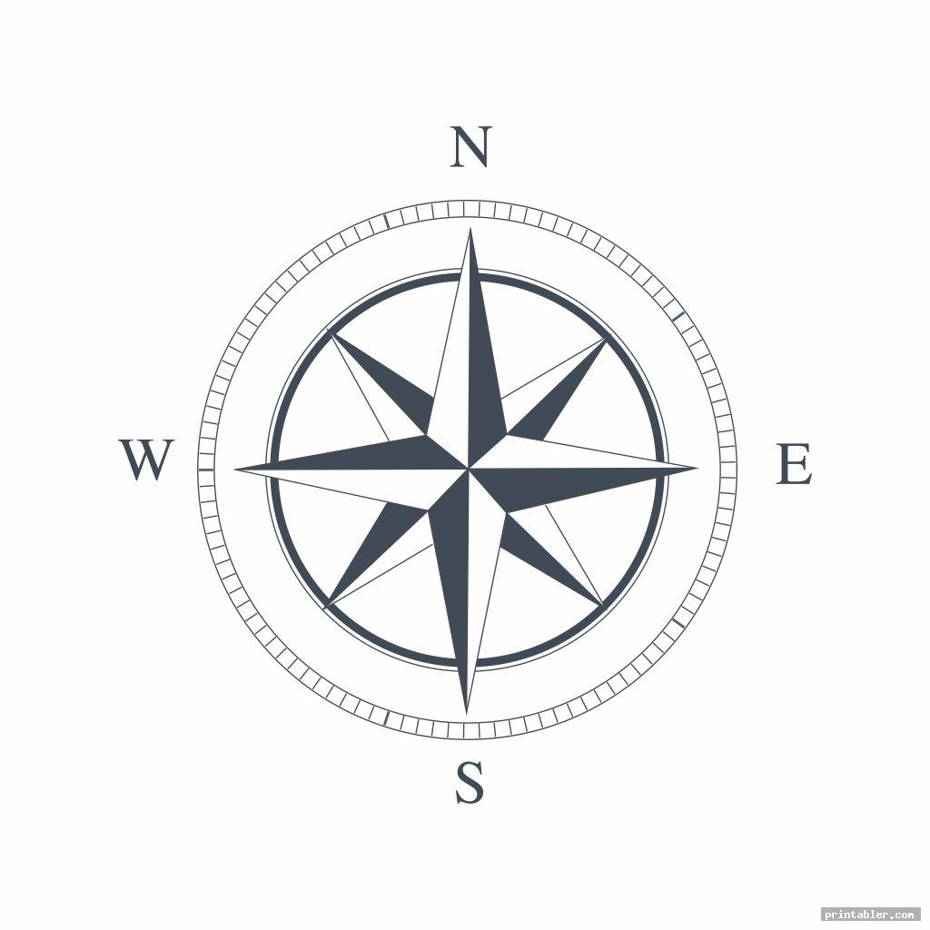 compass template printable for use