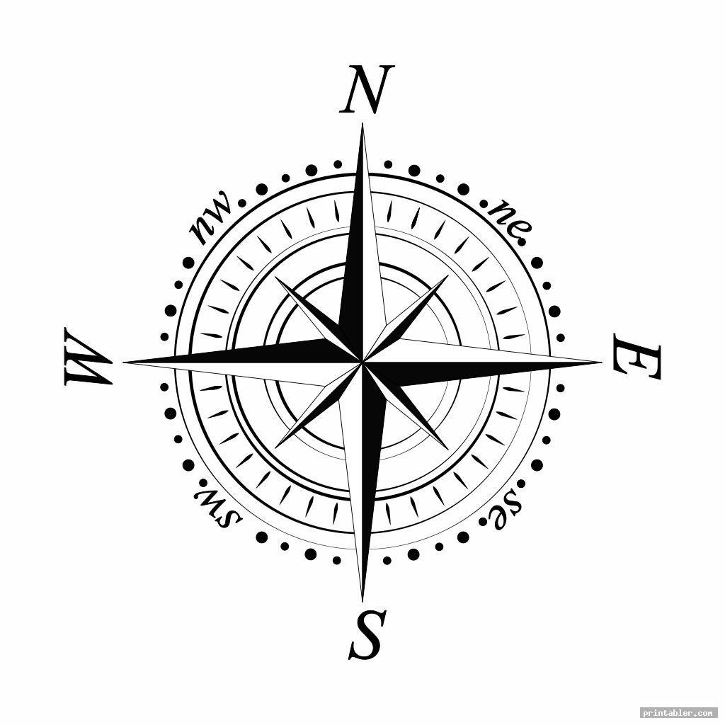 compass template printable image free