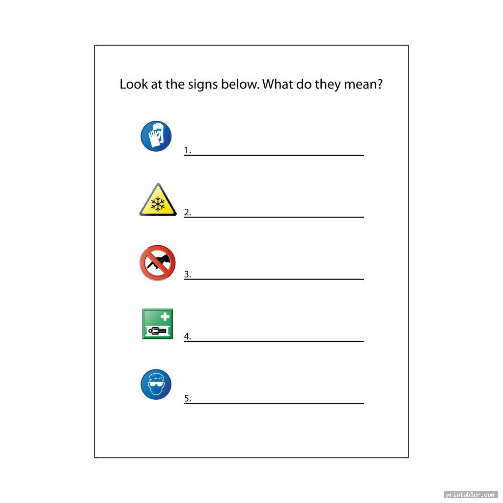 complete survival signs worksheets printable