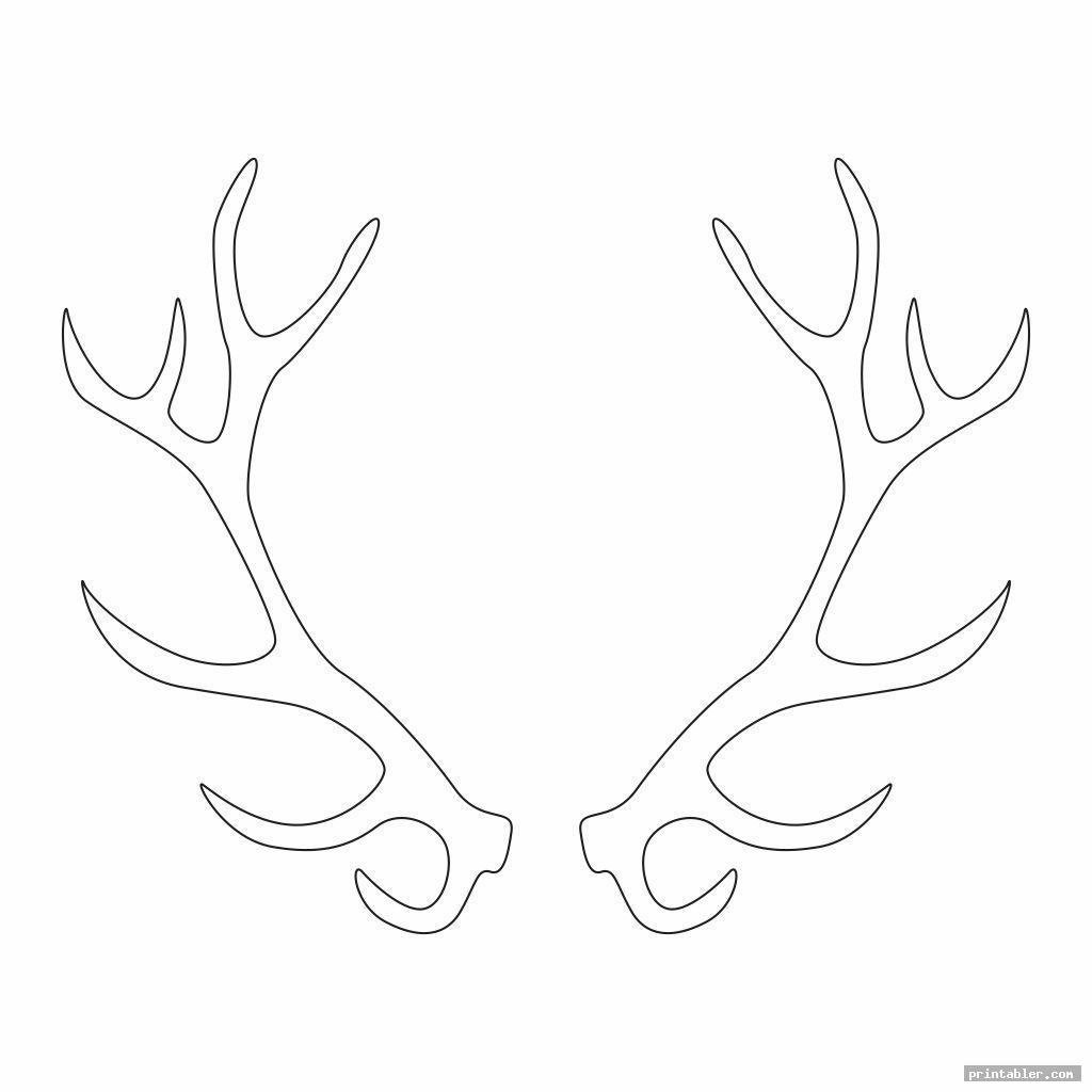 complex deer antler template printable