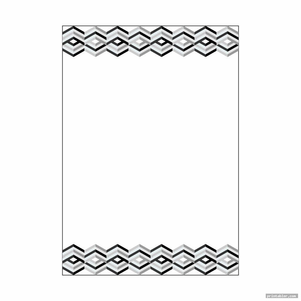 complicated black and white stationery printable