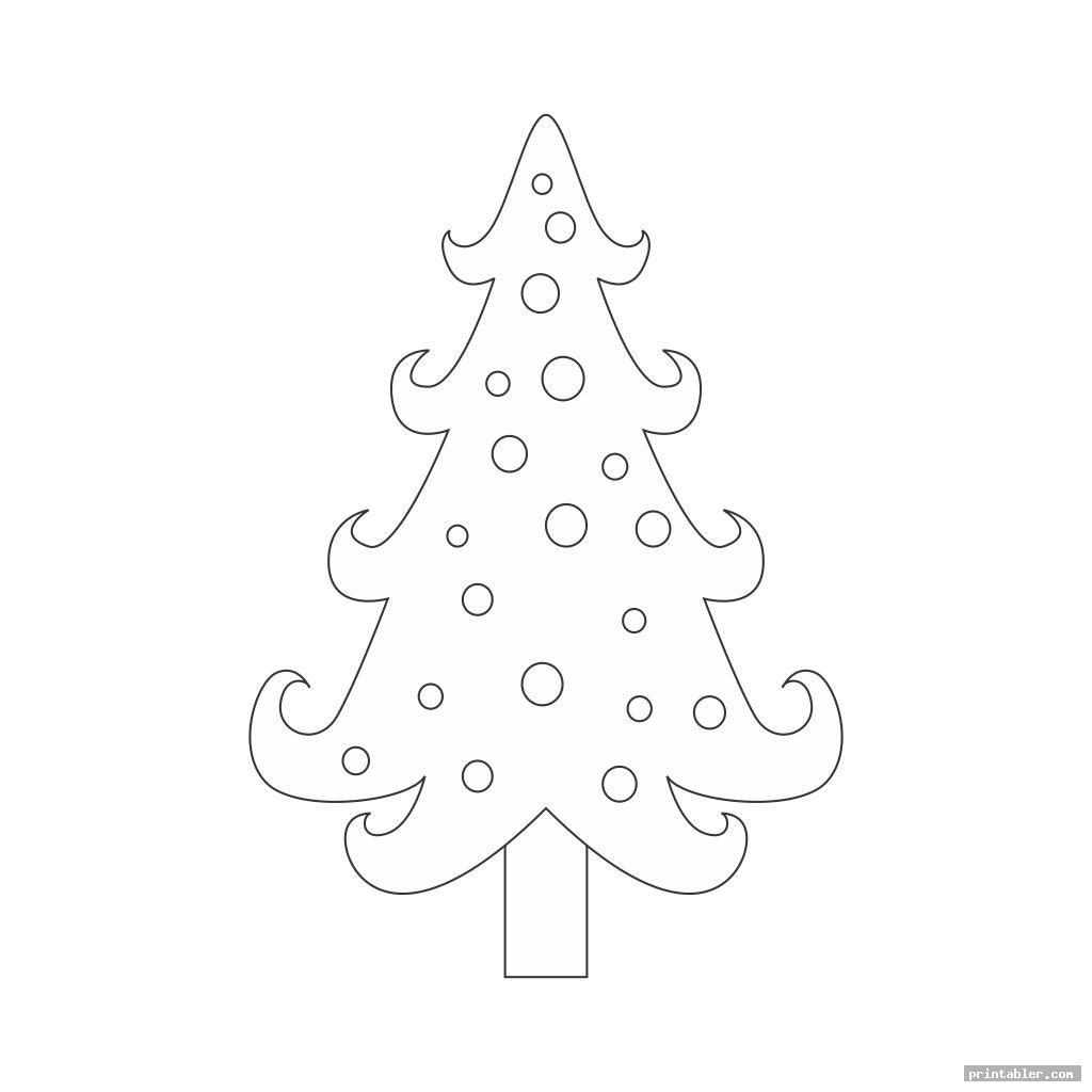 cool angel tree template printable