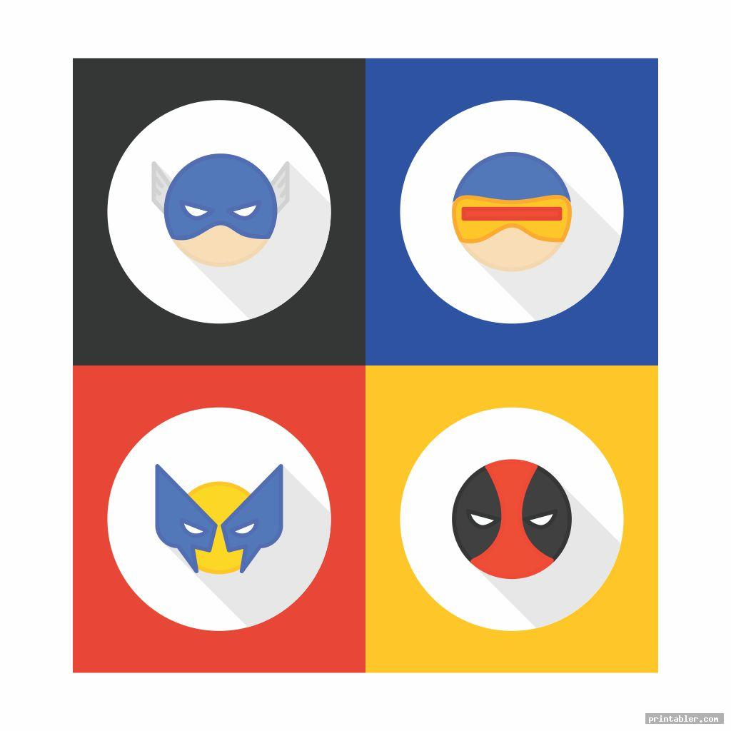 Colorful Avengers Icons for Cupcake Toppers Printable