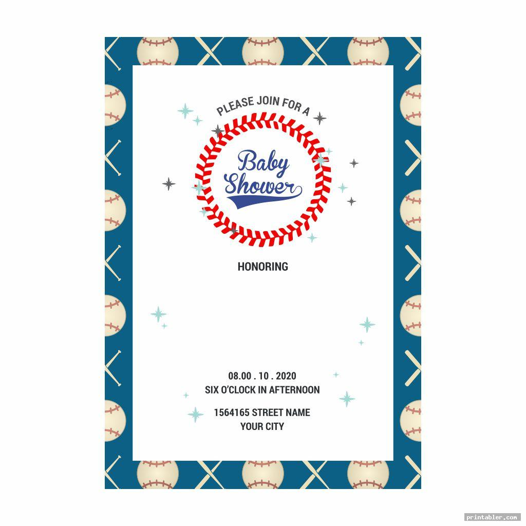 cool baseball baby shower s printable