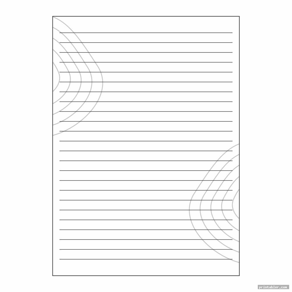 cool black and white stationery printable