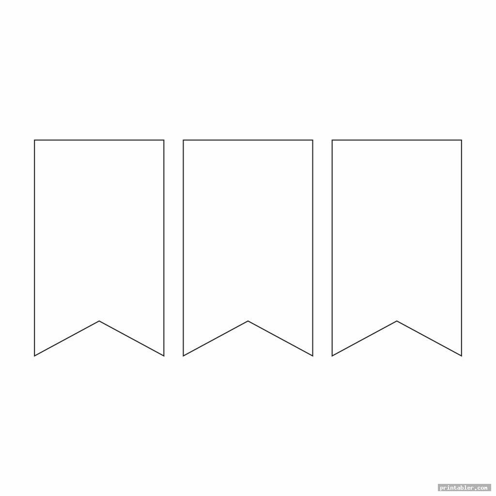 cool blank pennant template printable