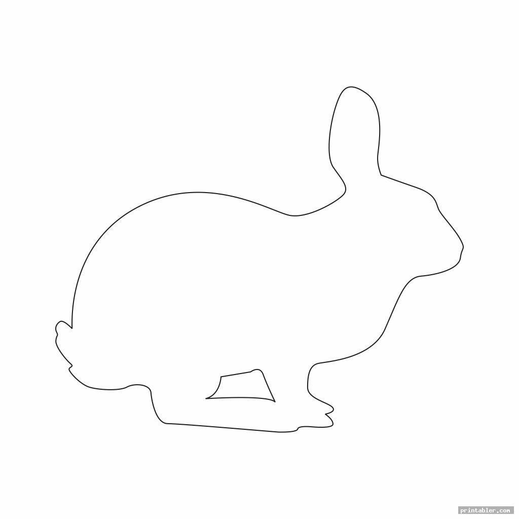 cool bunny outline template printable