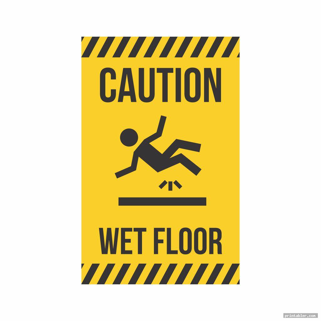 cool caution wet floor sign printable