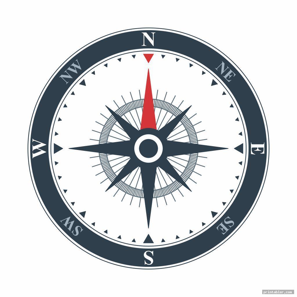 cool compass template printable