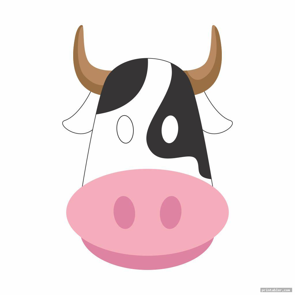 It is an image of Printable Cow Mask inside simple