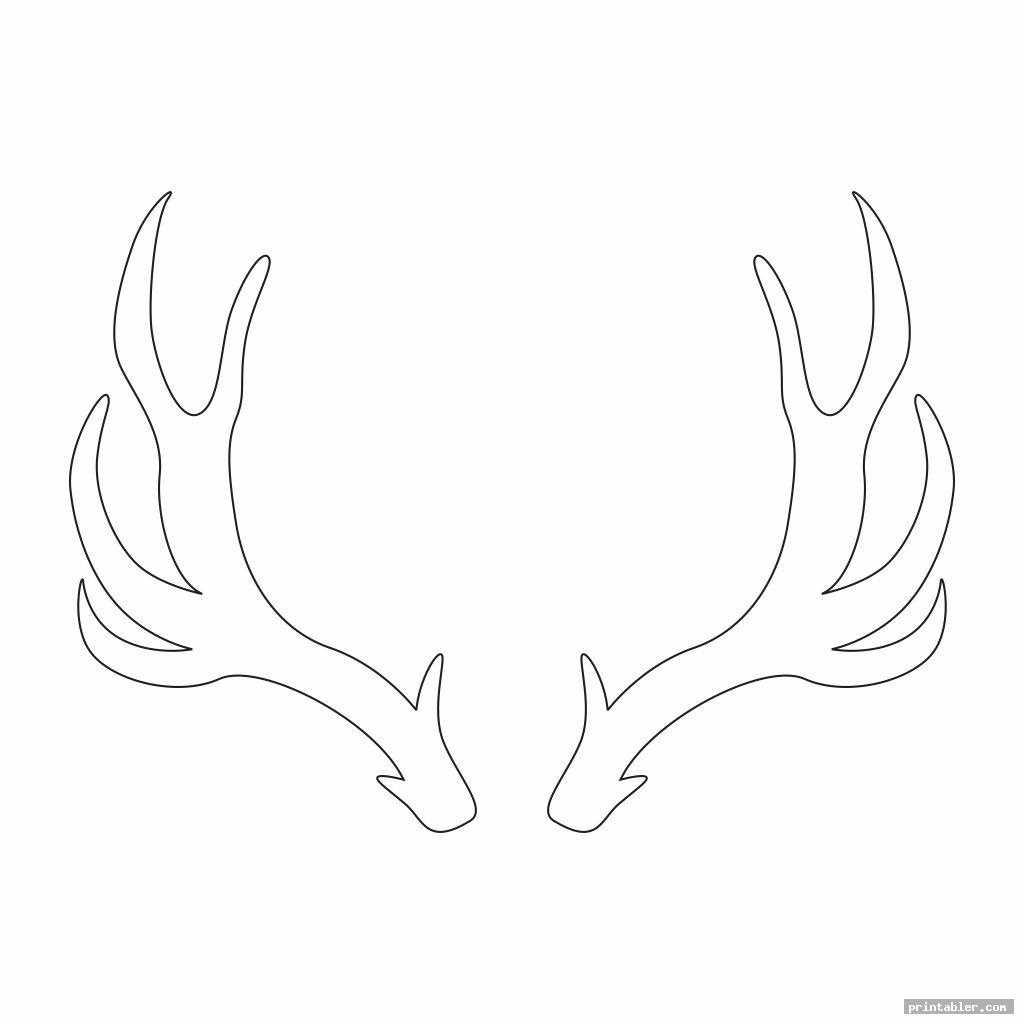 Crafty image pertaining to deer antler printable template