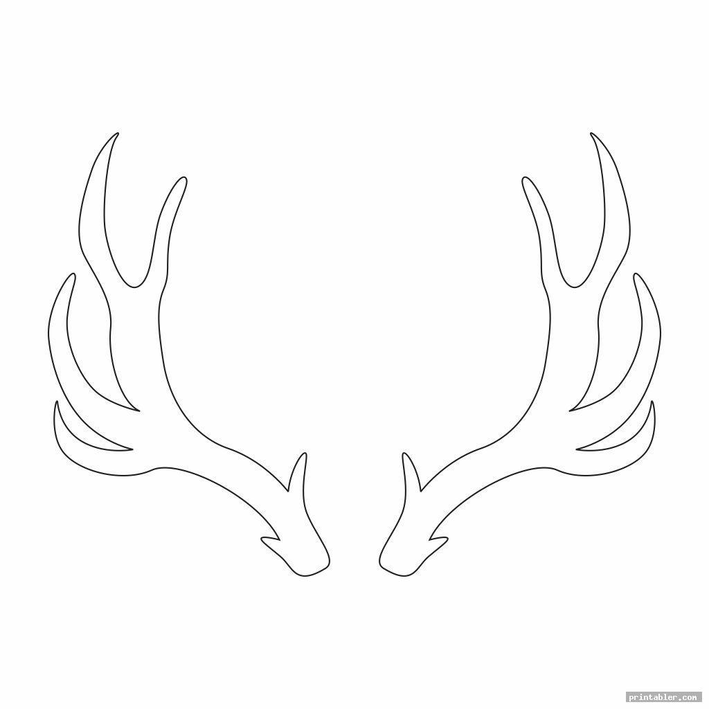 cool deer antler template printable