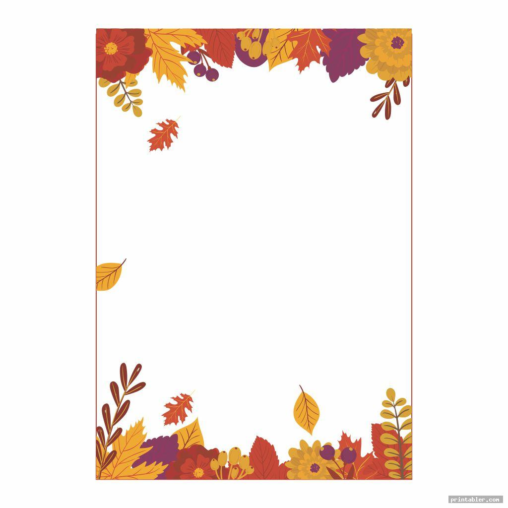 cool fall stationery template printable