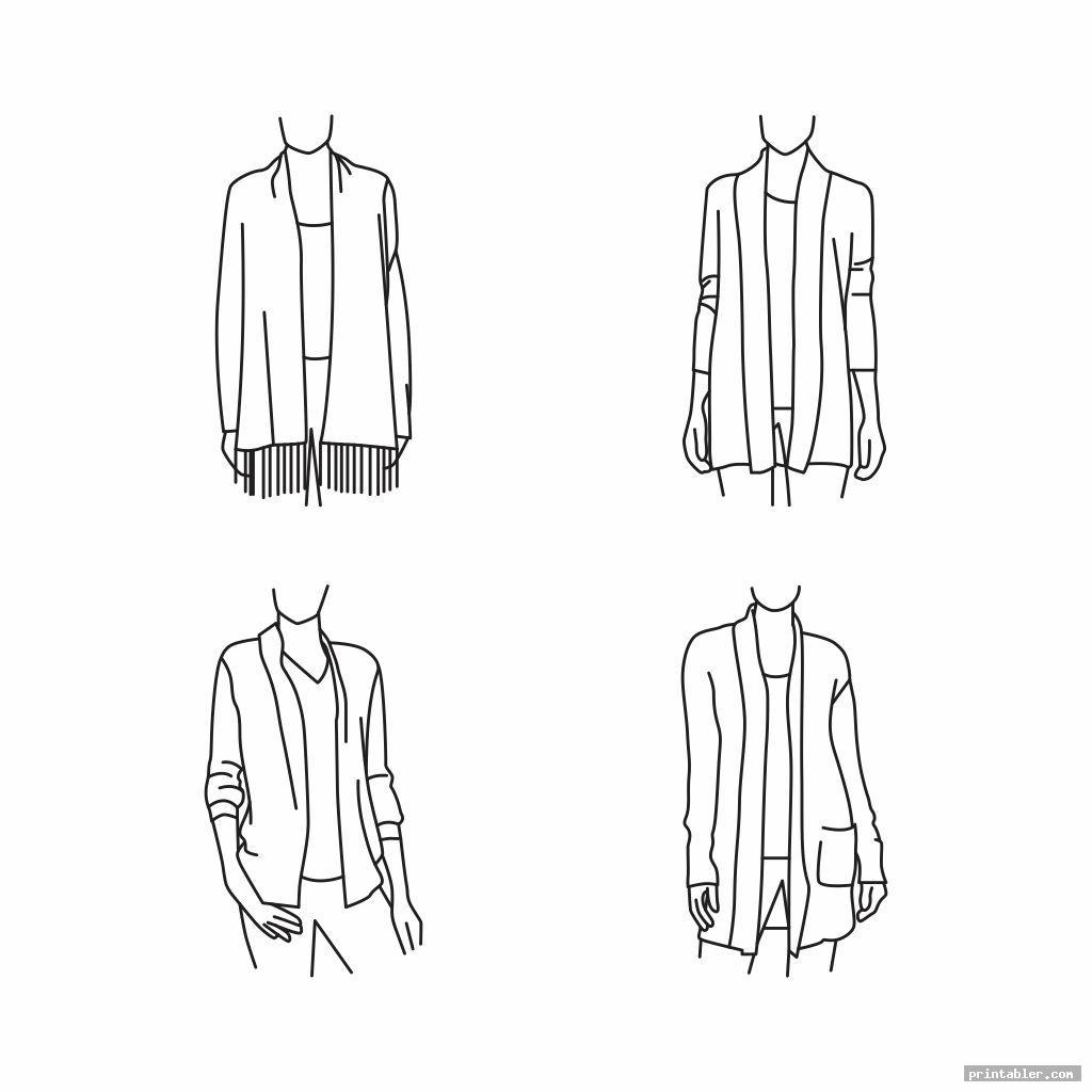 Men and Women Fashion Sketches Printable