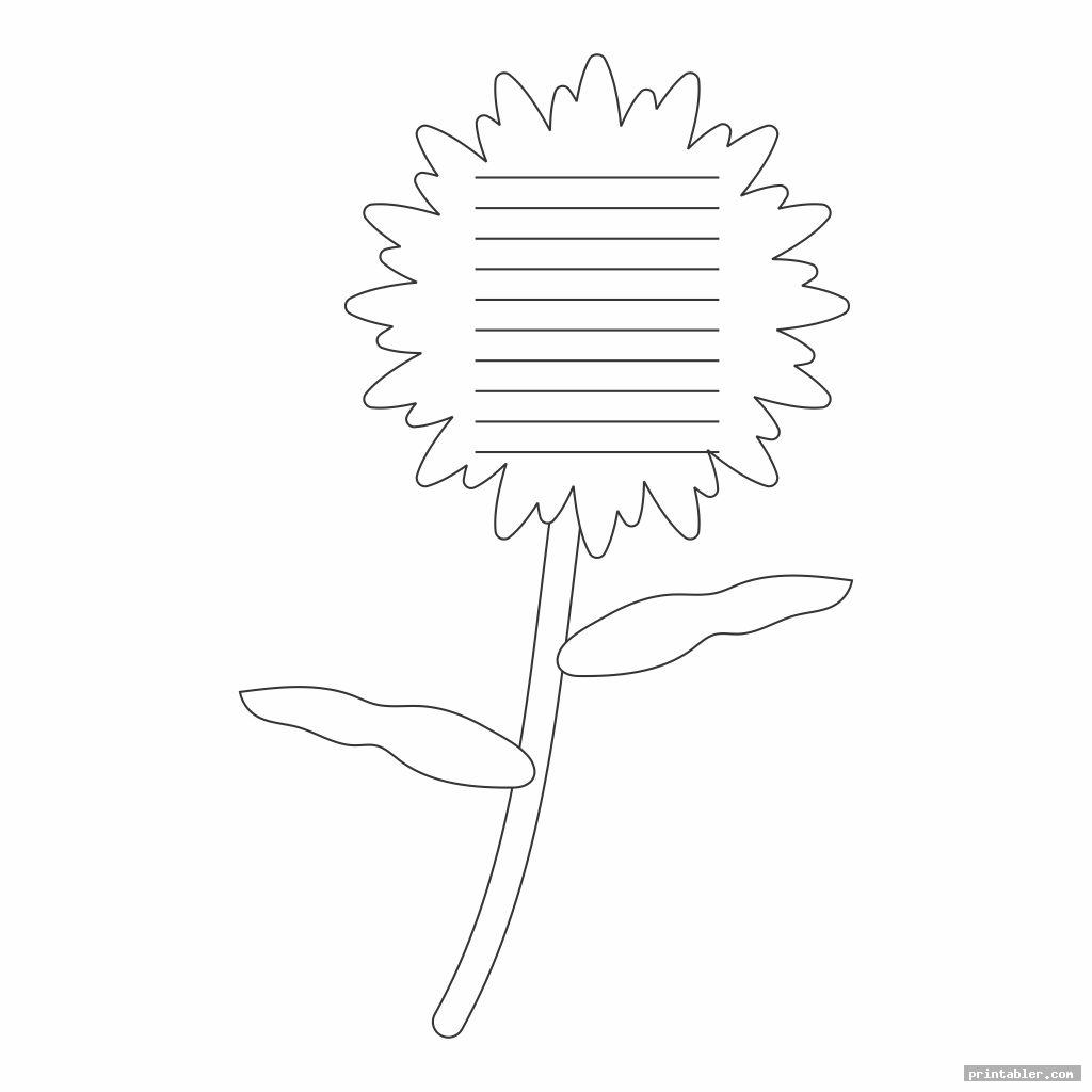 cool flower writing template printable